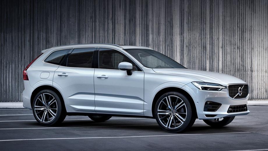 Volvo xc60. «Подписной» XC60 может быть только с полным приводом, бензиновой турбочетвёркой 2.0 (249 л.с., 320 Н•м) и восьмиступенчатым «автоматом». В отличие от фото, госномера на машине уже висят.