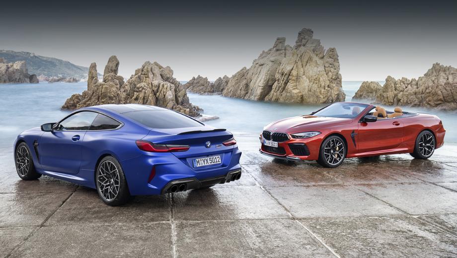 Bmw 8,Bmw m8. На фотографиях, сопровождающих виртуальную премьеру, купе и кабриолет показаны в исполнении Competition, хотя компания рассказала и об обычных «эмках».