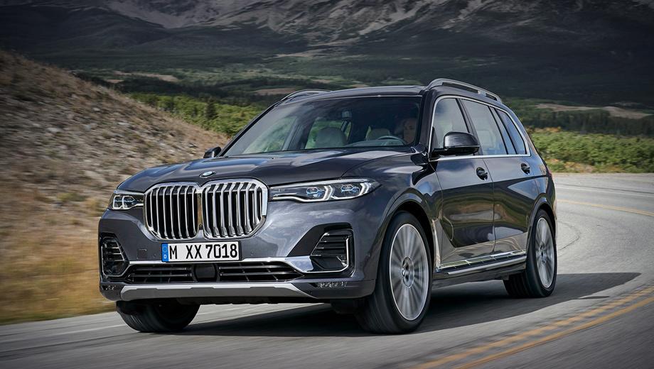 Bmw x7. Пятого июня BMW X7 встал на конвейер калининградского Автотора, который рассчитывает до конца года выпустить около 3000 машин. Сейчас базовая версия xDrive30d (турбодизель 3.0, 249 л.с., восьмиступенчатый «автомат») стоит от 5 930 000 рублей.