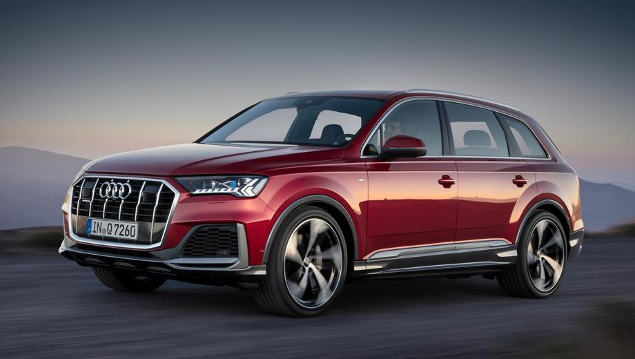Audi q7. Российские покупатели Audi Q7 голосуют рублём за дизельную версию (от 3 995 000 рублей), на которую приходится 96% продаж модели.