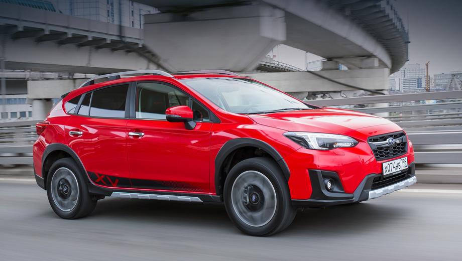 Subaru xv,Subaru xv tokyo. Цвет кузова можно выбрать из трёх вариантов: синего Quartz Blue Pearl, красного Pure Red, оранжевого Sunshine Orange. Дизайн 18-дюймовых легкосплавных дисков — стандартный.