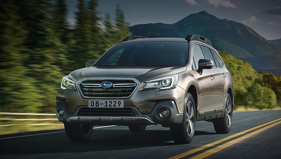 Subaru outback. Заметнее всего изменились цены. Во всех комплектациях Subaru Outback подорожал на 30 000 рублей. Теперь базовый универсал с оппозитной «четвёркой» 2.5 (175 л.с.) в комплектации Standart стоит 2 689 900 руб. Шестицилиндровая топ-версия 3.6 (260 сил) Premium ES тянет на 3 539 900.