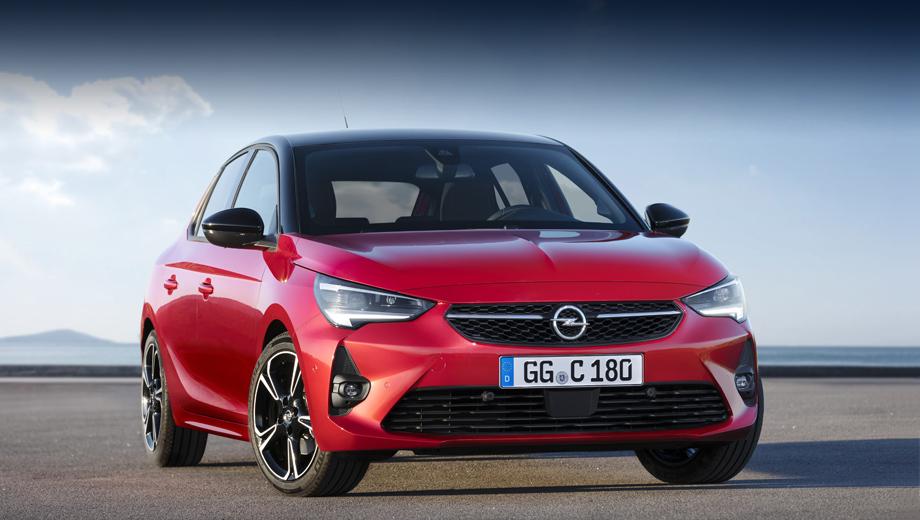 Opel corsa. Длина пятидверки (4,06 м) соответствует соплатформенному Peugeot 208. Самая лёгкая из модификаций Корсы теперь весит 980 кг, что на 108 кг меньше, чем у аналогичной версии в прошлом поколении. Ещё Corsa стала на 48 мм ниже (ранее было 1479–1481 мм), а водитель сидит ниже на 28 мм.