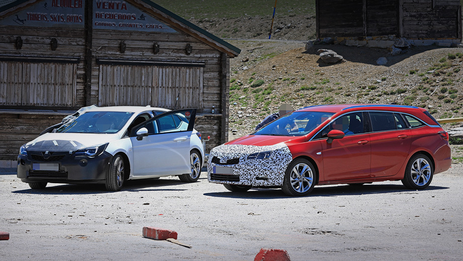 Opel astra. Перед сменой генерации Astra успеет пройти лёгкий рестайлинг, получить французские моторы и трансмиссии. Премьера ожидается в сентябрьском Франкфурте.