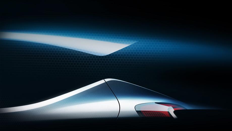 Hyundai i10. Единственный пока тизер, похоже, демонстрирует заднюю стойку с «парящей» крышей. Маленькие фонари и окружающий антураж не оставляют сомнений в компактности модели.