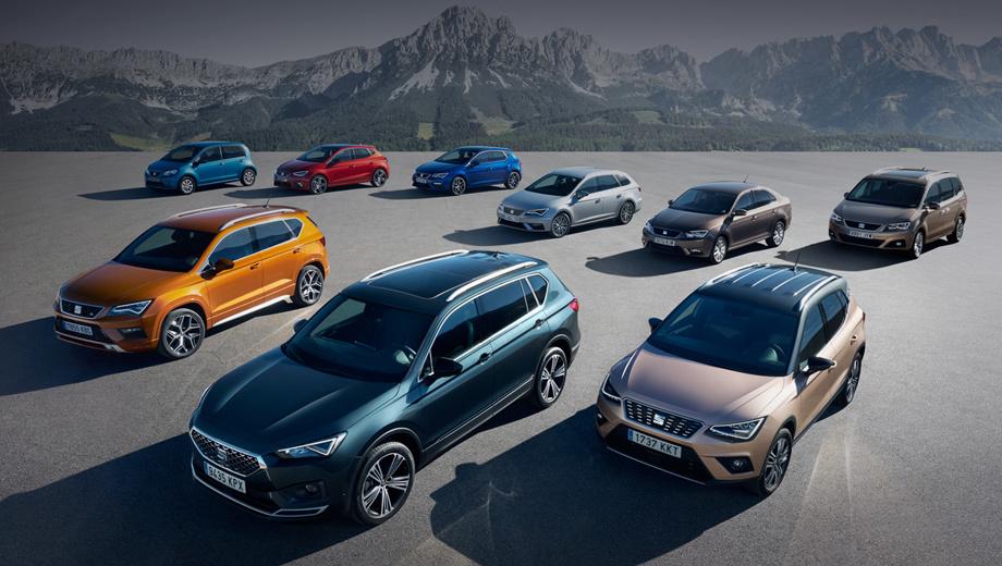 Seat tarraco,Seat alhambra,Seat ateca,Seat ibiza,Seat leon,Seat leon st,Seat mii. За первое полугодие 2019-го SEAT реализовал 314 300 автомобилей (+8,4%), добившись лучшего объёма продаж в своей истории. Главные рынки — Германия (66 500 машин, +16,2%), Испания (64 200 единиц, +3,2%) и Великобритания (37 700, +5,1%).