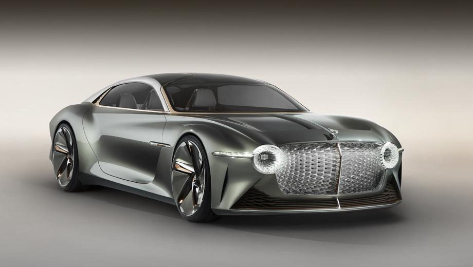 Bentley concept,Bentley exp 100 gt. Диковинка представлена в ходе празднования столетия компании Bentley, так что ей — особое внимание. Ведь она совместила богатые традиции постройки роскошных моделей с перспективными технологиями.