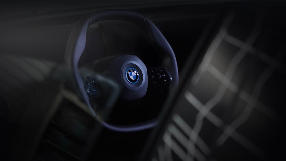 Bmw inext. Компания объясняет, что новая форма руля продиктована соображениями как эргономики, так и эстетики. Мол, она сочетается с общим дизайном салона новой модели.