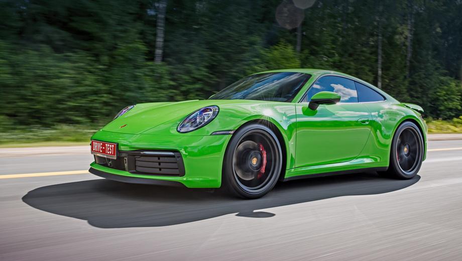 Porsche 911. «Эска» обойдётся минимум в 8 116 000 рублей. Но есть и простая Carrera за 7,2 млн: в ней 385 л.с., а разгон до 100 км/ч длится лишь на полсекунды дольше. По сравнению с Porsche 991 cнаряжённая масса выросла на 55 кг, а максимально допустимая — на все 85.
