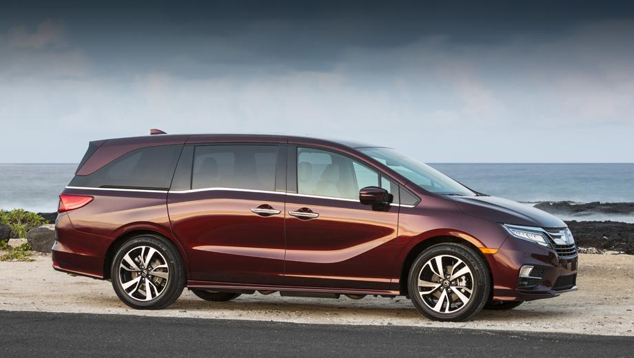 Honda odyssey. Все версии этого минивэна в США оснащены одним мотором — V6 3.5 i-VTEC (284 л.с., 355 Н•м). Комплектаций же пять: LX, EX, EX-L, Touring и Elite.