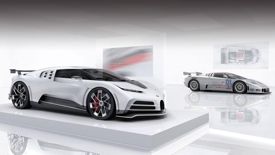 Bugatti eb110,Bugatti centodieci. Оригинальный EB110 был создан на 110-летие со дня рождения основателя фирмы Этторе Бугатти, а современная интерпретация той модели — на 110-летие марки Bugatti.
