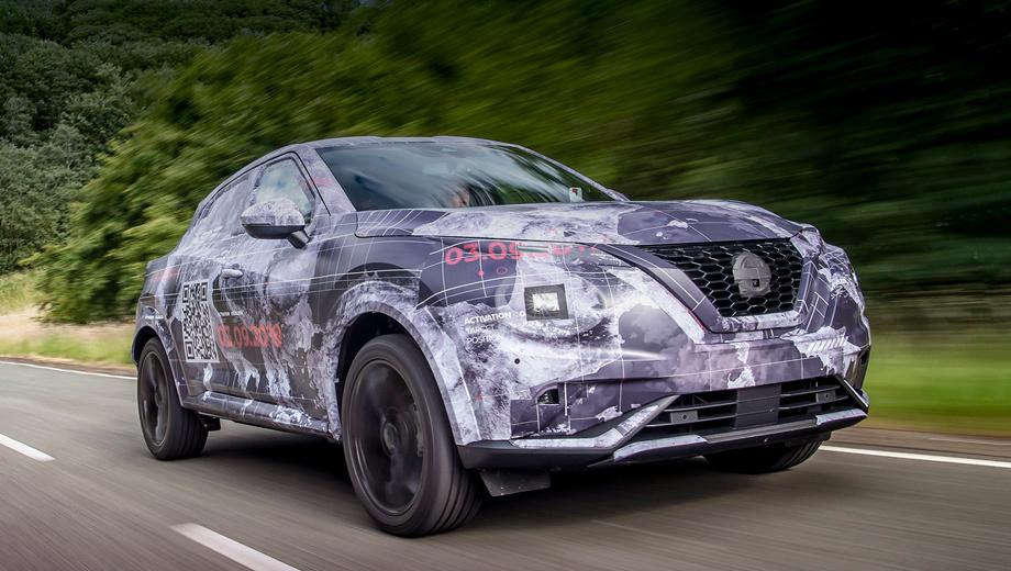 Nissan juke. От самой компании Nissan подробностей поступило немного: Juke увеличился в размерах, его дизайн с «изящными линиями купе»  разрабатывался в Европе (ранее говорилось о лондонской студии), в оснащение модели войдут автопилот ProPilot и 19-дюймовые легкосплавные диски.