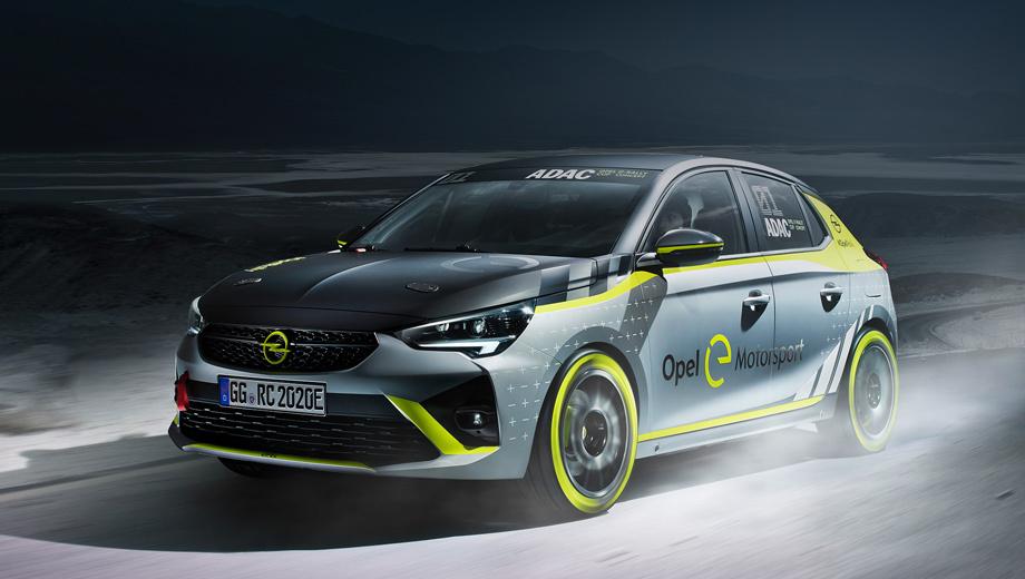 Opel concept,Opel adac e-rally car. Спасибо раскраске, ведь она не даёт спутать прототип со стоковой Корсой. Новый передний бампер наделён расширенным воздухозаборником. На капоте (вероятно, углепластиковом) и задней двери установлены «быстрые» замки, ну и 17-дюймовые колёса тут непростые.