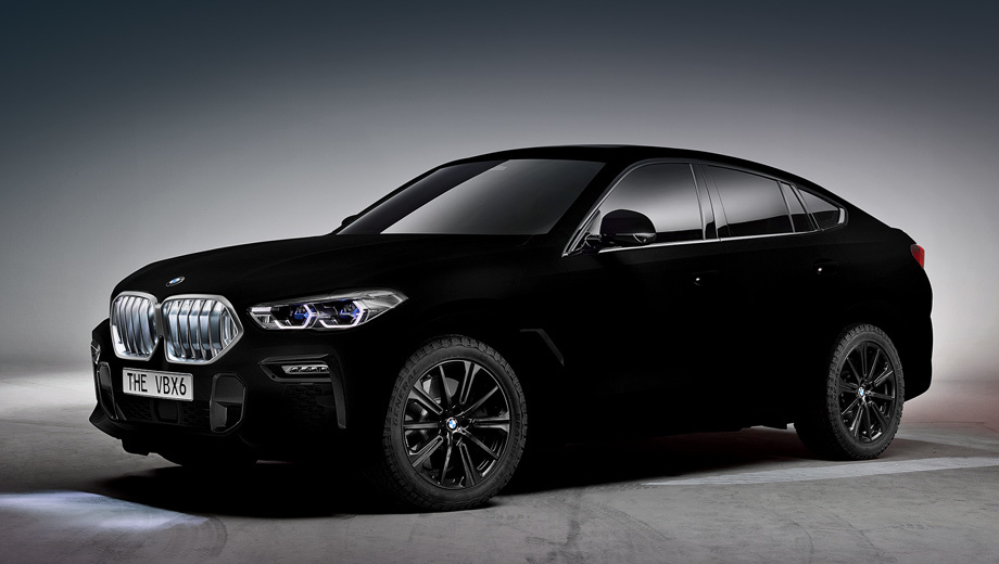 Bmw x6. Изобретателем покрытия Vantablack считается британская фирма Surrey NanoSystems. «Самый чёрный чёрный» BMW X6 третьего поколения — это одноразовый проект для мотор-шоу во Франкфурте. Красить так обычные машины пока нельзя, поскольку материал недостаточно устойчив.