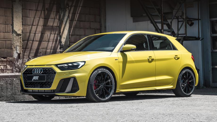 Audi a1. Ради более агрессивного облика ателье укомплектовало хэтч пружинами с занижением на 25-30 мм. Они могут сочетаться с базовой подвеской А1 и со спортивной, в том числе с опциональными электронноуправляемыми амортизаторами.
