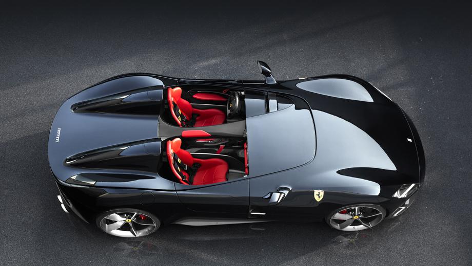 Ferrari 812 superfast,Ferrari f8 tributo. Недавние открытые модели из Маранелло с мотором V12 — это пара спидстеров Ferrari Monza SP1 и SP2 (на фото). Но они являются частью особой серии Icona и выйдут ограниченным тиражом. Однако марке нужна подобная машина и в обычной продуктовой линейке. Например топовый родстер V12.