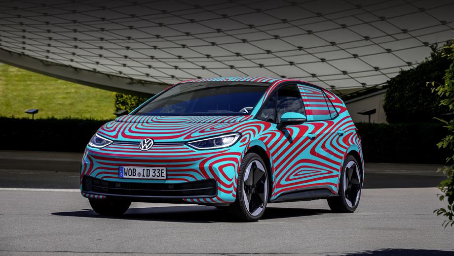 Volkswagen id 3. Премьера электромобиля состоится на автосалоне во Франкфурте, который откроется для прессы 10 сентября, а для обычной публики 14-го.