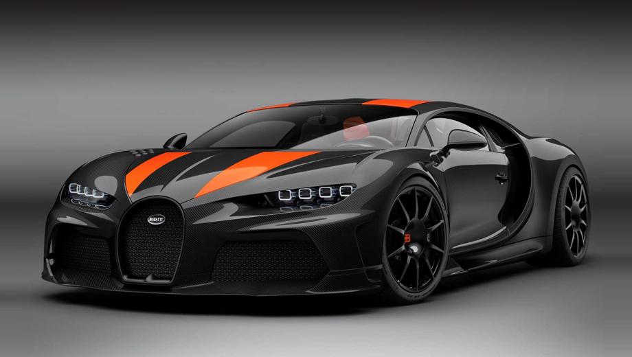 Bugatti chiron,Bugatti chiron super sport. На фирменных изображениях Super Sport показан в чёрном облачении с оранжевыми полосами, но это необязательный атрибут версии. По желанию клиента машину окрасят в любой оттенок.