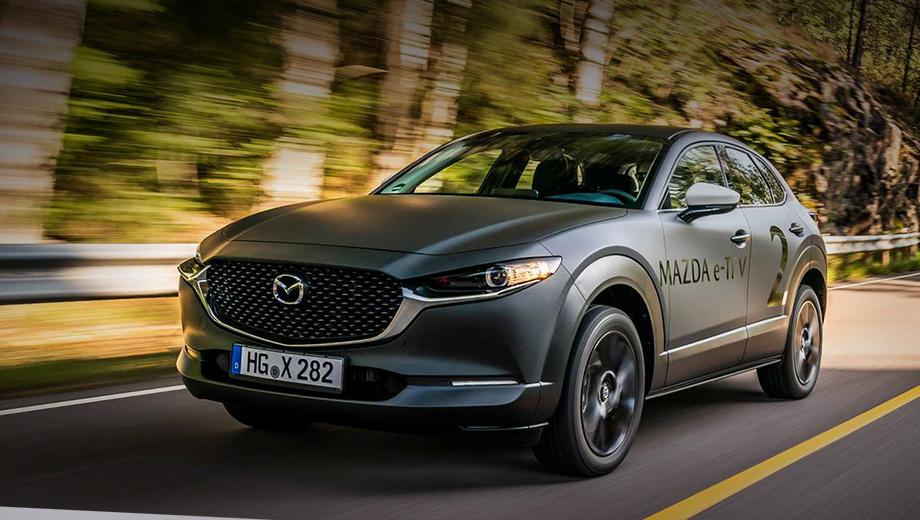 Mazda concept,Mazda e-tpv. Прототип e-TPV (electric-Technology Prove-out Vehicle), который японцы показали журналистам в Норвегии, представляет собой модифицированный паркетник Mazda CX-30. Но это якобы ничего не значит, поскольку товарный электрокар будет «совершенно новой моделью».
