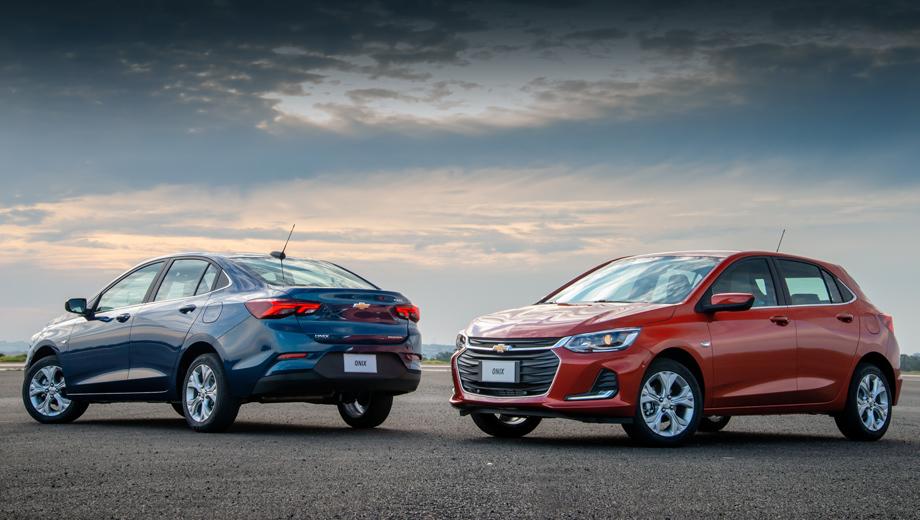 Chevrolet onix. Полные размеры указаны пока для седана: длина равна 4476 (+194 к предшественнику), ширина — 1746 (+41), высота — 1471 (–7), колёсная база — 2600 (+72).