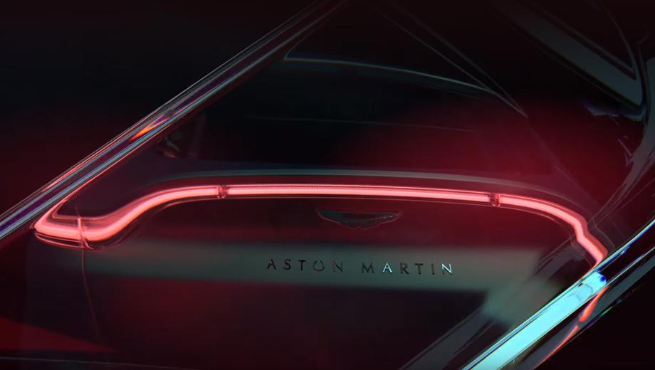 Aston martin dbx. Если вы ожидали увидеть на DBX пару световых «скобок», как у большинства Астонов последних лет, то ошиблись: судя по тизеру, фонари напоминают оптику Vantage последнего поколения.