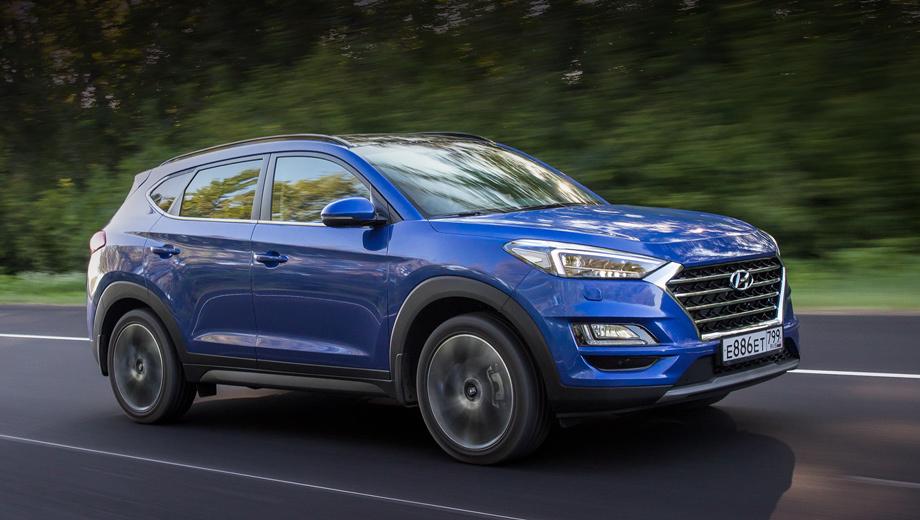 Hyundai tucson. По динамике разгона (9,6 с до сотни) Tucson 2.4 (184 л.с) проигрывает полсекунды машине с турбомотором 1.6 (177 л.с.), а стоит на 55 тысяч дороже. Зато его можно купить в более простых комплектациях, поэтому цены начинаются от 1 859 000 рублей.