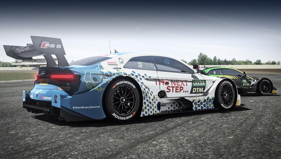 Audi rs5 dtm. В заездах Audi RS 5 DTM с надписью «Следующий шаг» поведёт двукратный чемпион Формулы-1 Эмерсон Фиттипальди, дедушка гонщика Пьетро Фиттипальди, отпраздновавшего свой дебют в DTM в этом году (потому на второй машине, на заднем плане, на стекле тоже написано FIT).