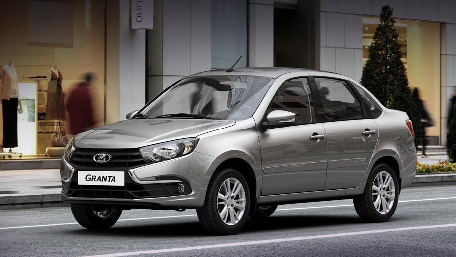 Lada granta. Гранта — лидер российского рынка: за девять месяцев 2019 года продано 96 974 автомобиля. Седан дешевле других модификаций. С восьмиклапанником 1.6 (87 л.с.) и «механикой» он обойдётся в 444 900 рублей.