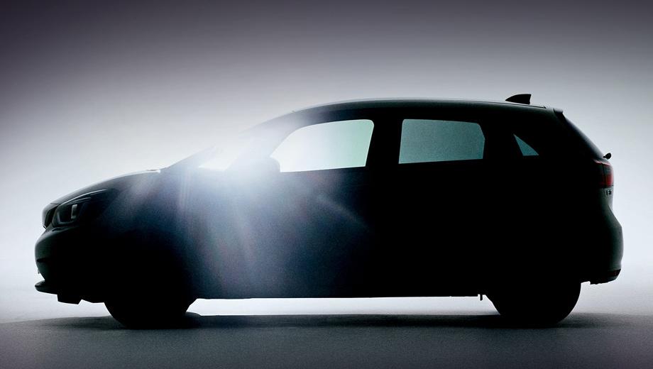 Honda jazz. Описание к первому тизеру гласит, что Jazz, переработанный во благо пассажиров, «поднимет планку с точки зрения комфорта и удовольствия от вождения», а двухмоторная гибридная установка обеспечит «впечатляющую экономию топлива».