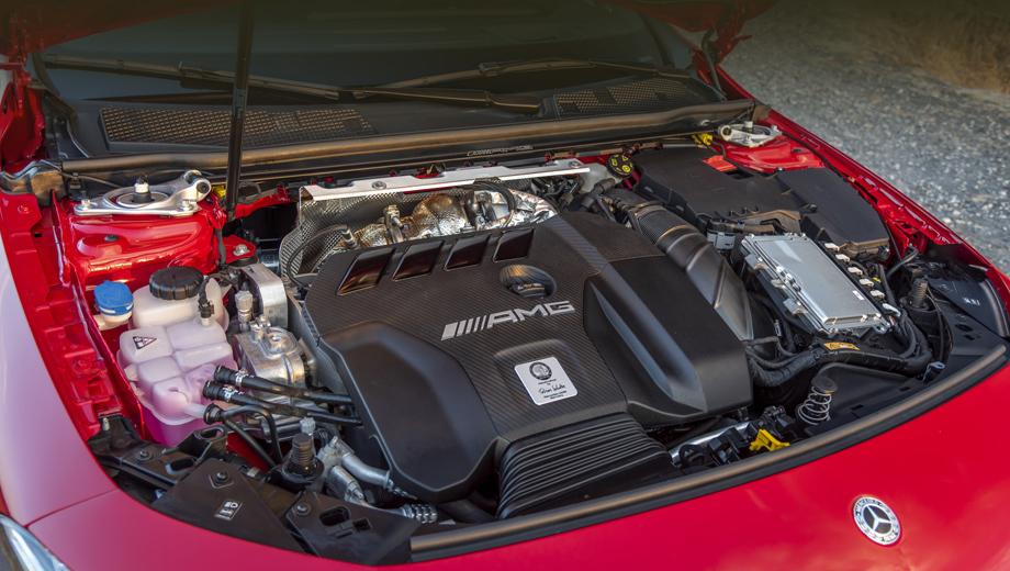 Mercedes c,Mercedes c amg. Удельная мощность четырёхцилиндрового агрегата М139 (на фото) достигает 211,45 л.с./л, тогда как у четырёхлитровой «восьмёрки» от современного С 63 — 128,07. На размещение агрегата в моторном отсеке (в «цешке» будет вдоль) внимания можно не обращать: доработать мотор под продольную компоновку вместо поперечной — не проблема.