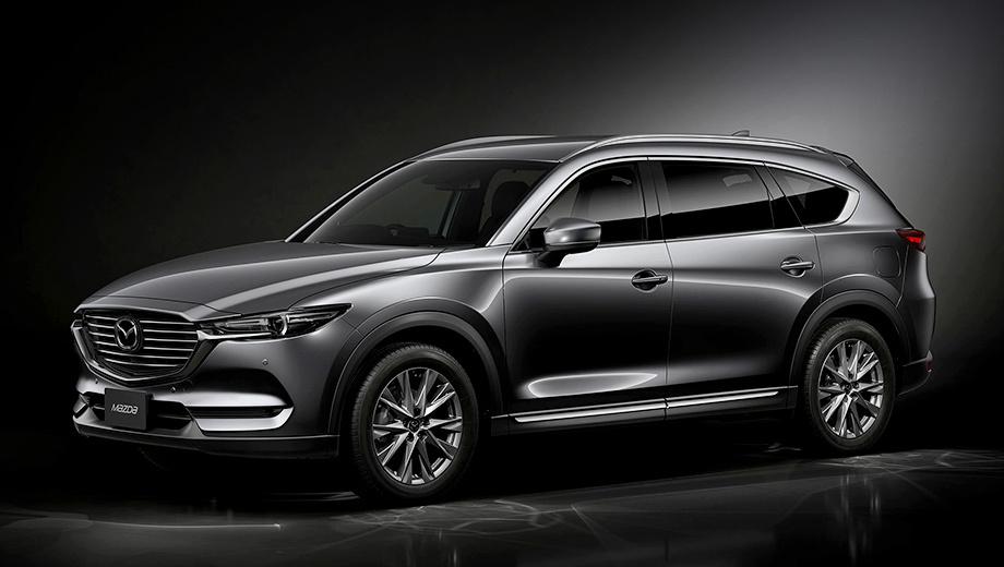 Mazda cx-8. Хотя модель продаётся с декабря 2017 года, никаких изменений во внешности с тех пор не произошло. Заметим, что наряду с Японией паркетник CX-8 доступен в Австралии, Новой Зеландии, Китае и Малайзии, причём в двух последних странах он производится.