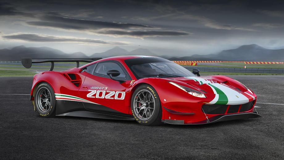 Ferrari 488 gtb,Ferrari 488 gt3,Ferrari 488 сhallenge,Ferrari 488 сhallenge evo,Ferrari 488 gt3 evo. Среди перемен у 488 GT3 — рост колёсной базы с обычных для 488-й 2650 мм до 2710, как у версии 488 GTE, предназначенной для гонок на выносливость. Это «уменьшает износ шин и облегчает преобразование GT3 в GTE».