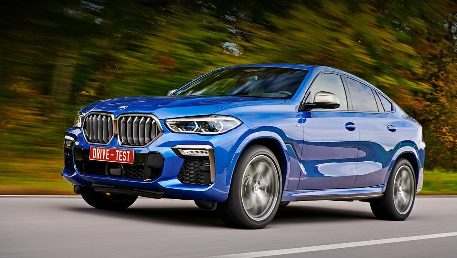 Bmw x6. Приём заказов стартует 30 ноября, но цены уже известны. За дизельные хэтчбеки xDrive30d (249 л.с.) просят от 5 420 000 рублей, за 400-сильные M50d — минимум 6,61 млн. Начальная бензиновая версия xDrive40i (340 сил) оценена в 5 520 000 рублей, M50i с V8 мощностью 530 «лошадей» тянет на 6,77 млн.