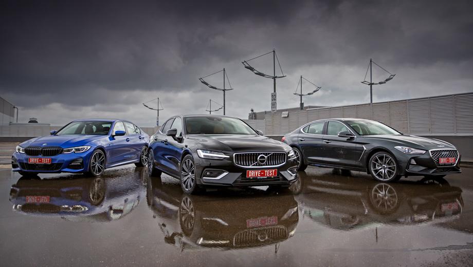 Bmw 3,Genesis g70,Volvo s60. Переднеприводный S60 T4 (190 л.с.) обойдётся минимум в 2,4 млн рублей. Конфигуратор позволяет довести цену до 4,1 млн. А для сравнимого BMW 320i (184 л.с.), например, — удвоить её с 2,5 млн до 5,6. Диапазон 197-сильного Дженезиса скромнее: 2,2–3,1 млн, зато он всегда полноприводен.