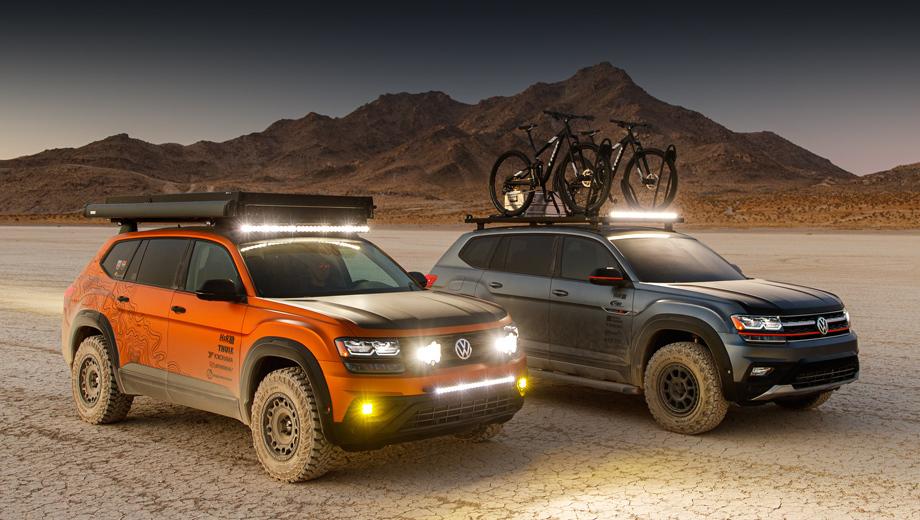 Volkswagen atlas,Volkswagen jetta,Volkswagen jetta gli. Серый Basecamp уже был показан на шоу SOWO в мае нынешнего года, а к выставке SEMA он обзавёлся собратьями, такими как оранжевый Atlas Adventure.