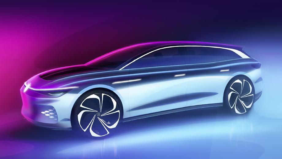 Volkswagen concept,Volkswagen id space vizzion. Название концепта указывает на его тесное родство с седаном I.D. Vizzion, хотя оформление носа у «сарая» собственное, а рельеф бортов похож лишь отчасти.