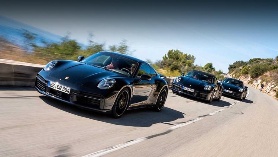 Porsche 911,Porsche 911 turbo,Porsche 911 turbo cabriolet. Инсайдерские данные сулят машине восьмиступенчатый «робот» и управляемую заднюю ось. Полный привод для версии Turbo — это уже само собой. Премьера такой версии должна состояться весной 2020 года.