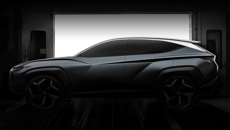 Hyundai tucson,Hyundai concept. Фирма говорит, что это уже седьмой концепт от Hyundai Design Center, развивающий тему «чувственной спортивности». А вот о связи с будущей серийной машиной официально не сказано ни слова, однако она просматривается.