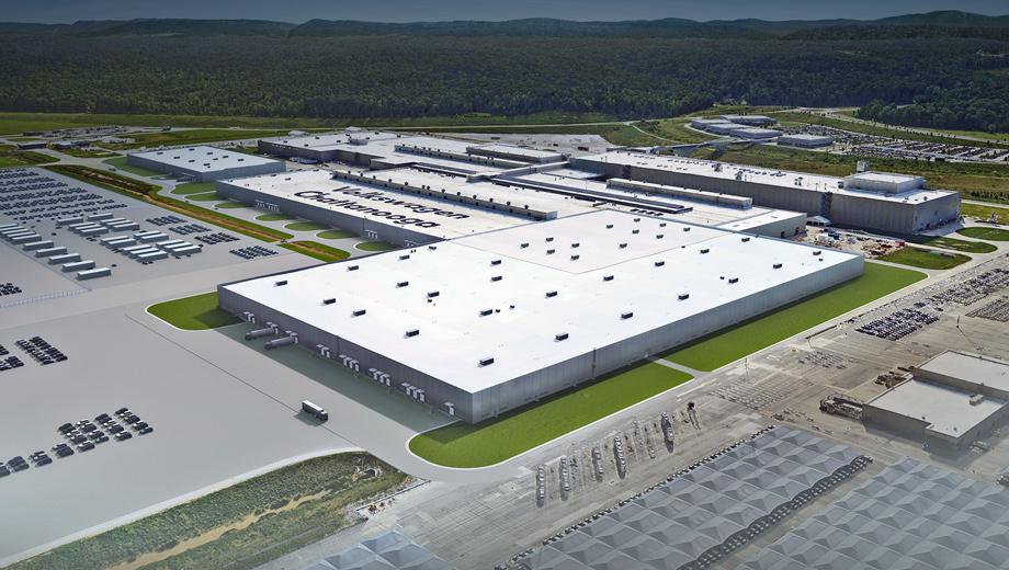 Volkswagen id. К действующим мощностям будут пристроены кузовной цех (площадью 5,2 га) и комплекс по сборке батарей (1,8 га). «Электрокары — это будущее мобильности, и Volkswagen будет строить их для миллионов, а не только для миллионеров», — заявил Скотт Кио, президент VW Group of America.