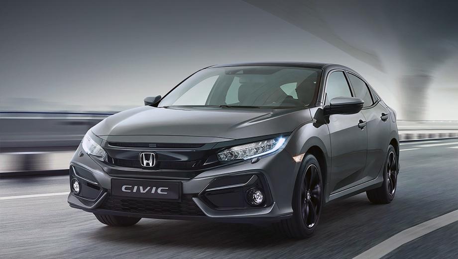 Honda civic. Это новое для европейцев обновление, однако модель Honda Civic для североамериканского рынка обновили ещё в конце лета 2019 года. Тогда дело также коснулось внешности и интерьера, но не технической начинки.