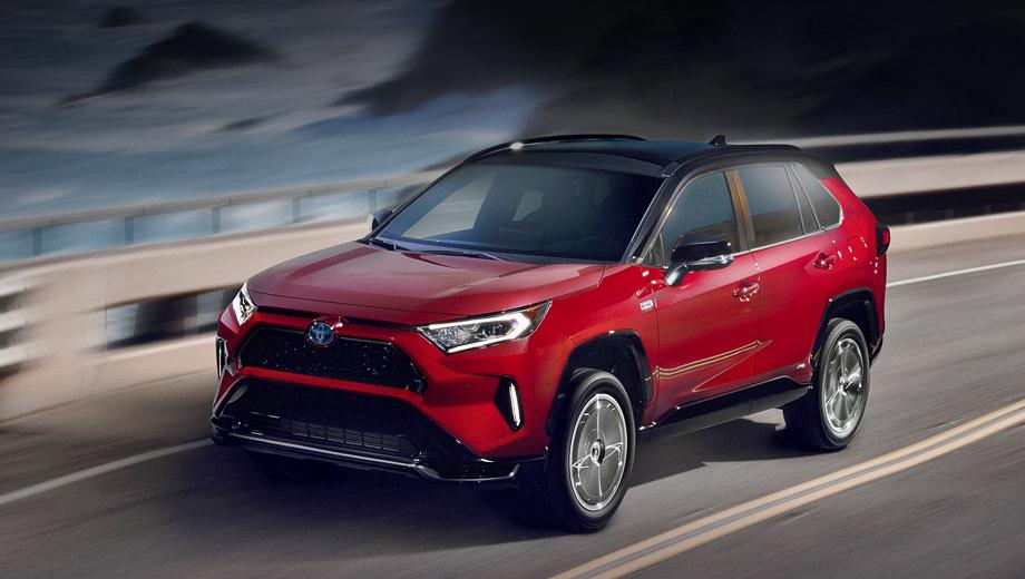 Toyota rav4. Внешне Prime отличается оформлением решётки и бамперов с чёрными глянцевыми деталями, а также дизайном 18-дюймовых легкосплавных дисков. Паркетник будет доступен только в двух дорогих комплектациях: новой SE и известной XSE. Цвет Supersonic Red (на фото) — новый.