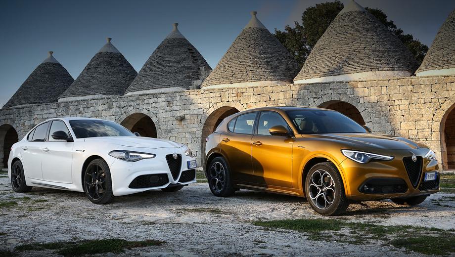 Alfaromeo giulia,Alfaromeo stelvio. Обновление немного подняло цены. Если раньше в Штатах Alfa Romeo Giulia и Stelvio стоили $38 545 и $40 545 соответственно, то машины 2020 модельного года обойдутся уже в $39 350 и $41 350. Дебют обеих моделей состоялся на автосалоне в Лос-Анджелесе.