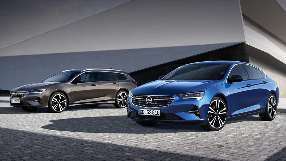 Opel insignia. Опелевцы отчего-то не спешат внедрять Vizor — новое лицо марки, заявленное концептом Opel GT X. Впрочем, в формах новых фар (светодиодных «в базе») с интегрированными ходовыми огнями хотя бы появился намёк на ту концепцию.