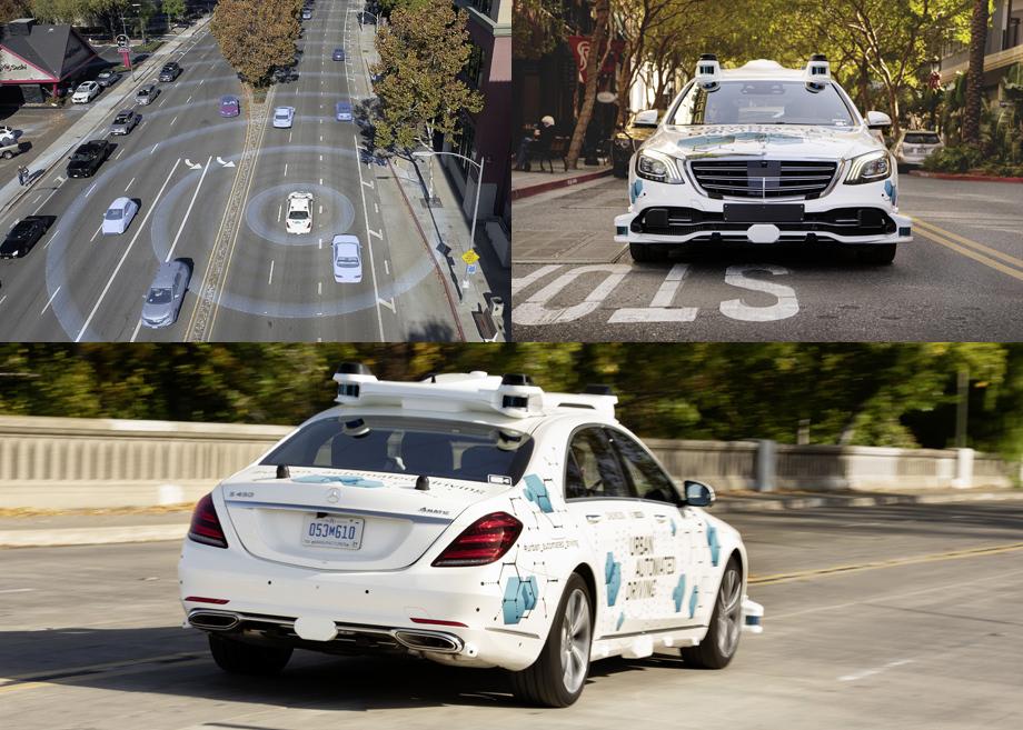 Mercedes-Benz иBosch запустили беспилотники наулицы Сан-Хосе