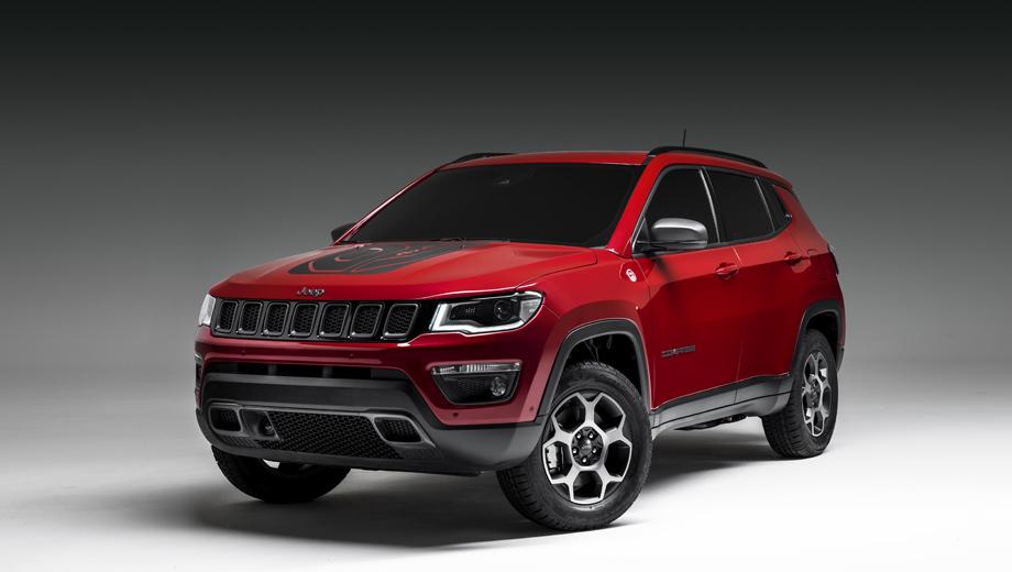 Jeep wrangler,Jeep renegade,Jeep compass,Jeep commander. Модель Compass PHEV использует турбомотор 1.3, приводящий переднюю ось, и отдельный электродвигатель на задней оси. Суммарная отдача системы составляет 240 «лошадей».