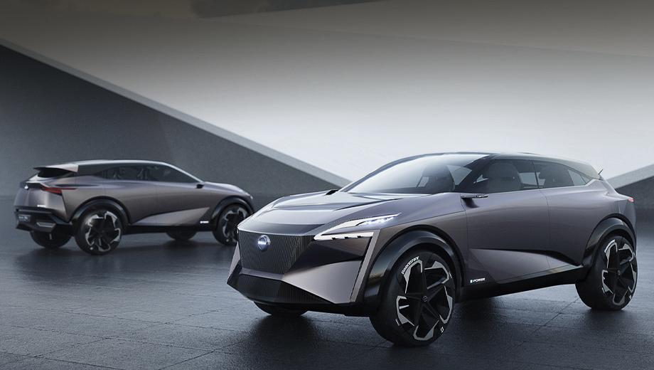 Nissan qashqai,Nissan x-trail,Nissan ariya. Концепт Nissan IMQ теперь открыто называется прообразом «третьего» Кашкая. Всё идёт к тому, что новые Qashqai и X-Trail вместе с «четвёртым» Аутлендером, объединённые платформой CMF-CD, получат одну и ту же гибридную установку Mitsubishi.