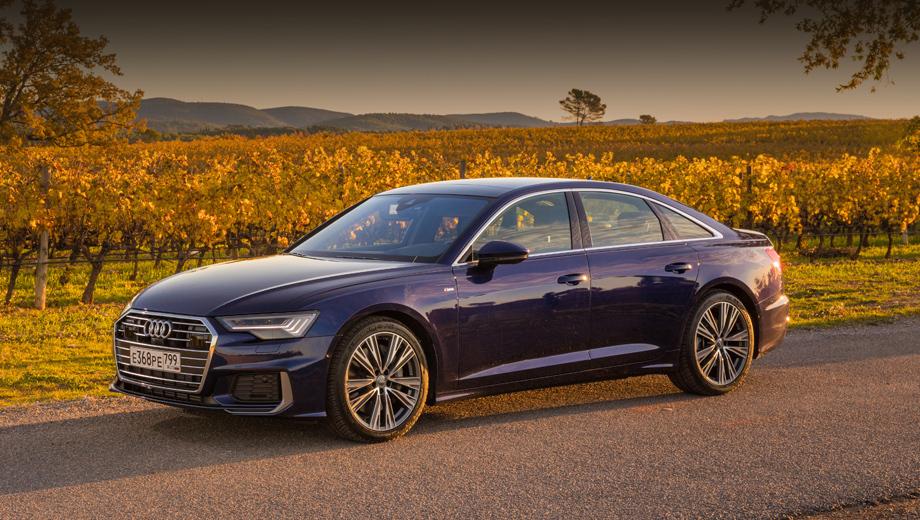 Audi a6. До появления седана A6 с индексом 40 самым доступным вариантом модели в России была версия 45 TFSI quattro, оцениваемая в 3 305 000 рублей, тогда как 55 TFSI quattro требует 3 995 000.