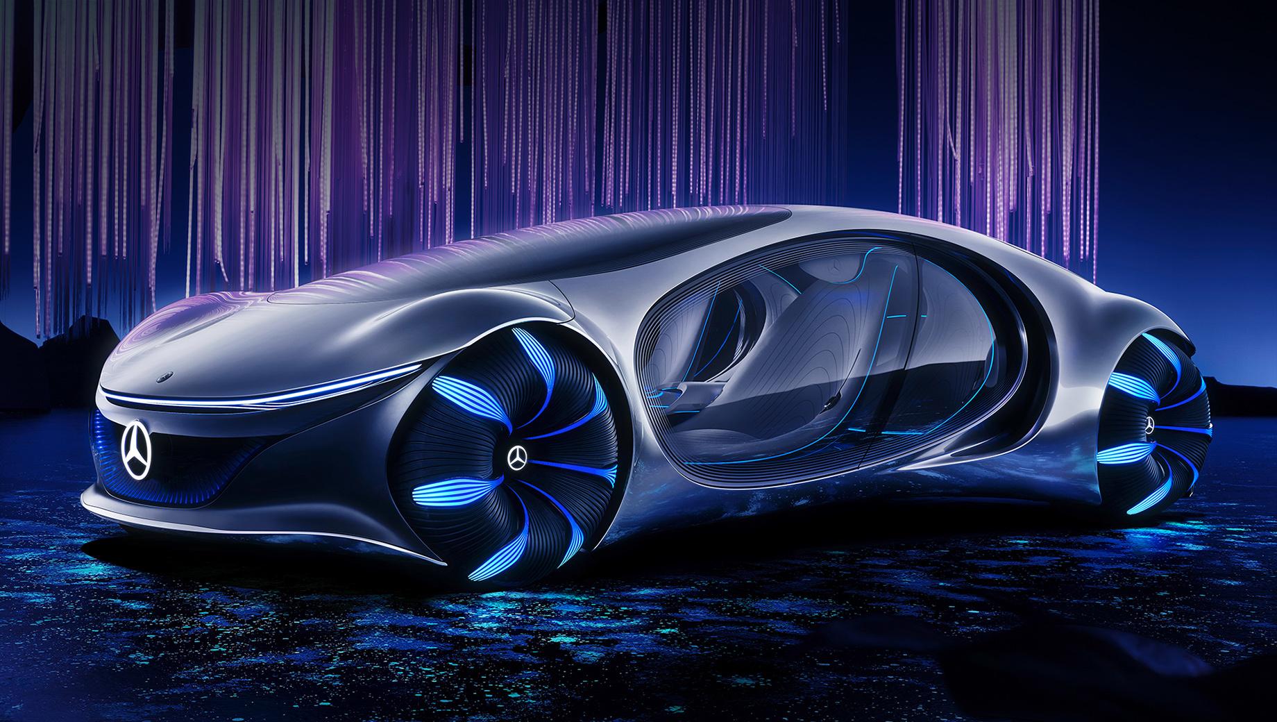 Mercedes vision avtr,Mercedes concept. Название AVTR, с одной стороны, отсылает к кинофильму Avatar, которым вдохновлялись создатели концепта. С другой, акроним означает Advanced Vehicle Transformation — продвинутую трансформацию машины при «слиянии» с владельцем и природой. «Органический» язык дизайна зовётся One Bow.