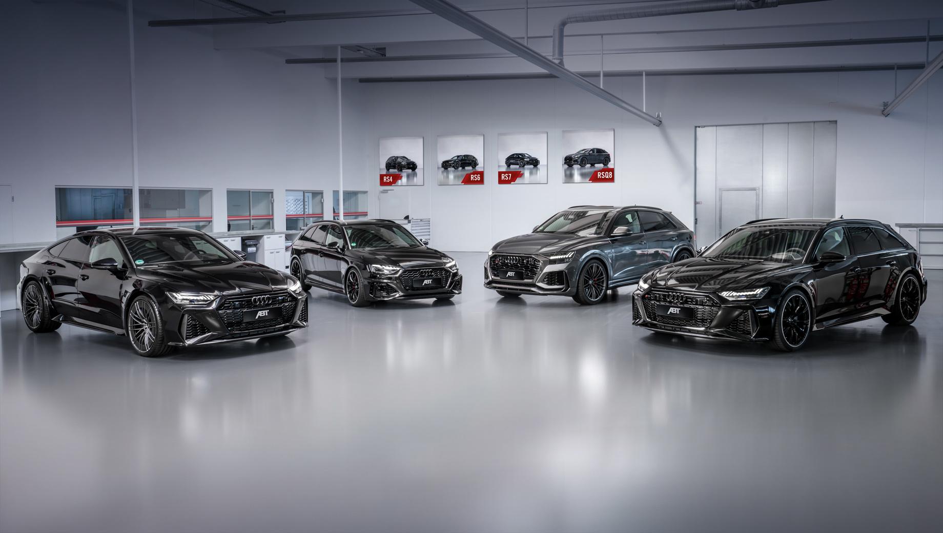 Audi rs4,Audi rs6,Audi rs7,Audi rs q8. Ингольштадтские «зажигалки» повысили мощность за счёт блока контроля двигателя ABT Engine Control (AEC). При необходимости (в зависимости от степени форсировки) он дополняется новыми компонентами системы впуска и новым интеркулером.