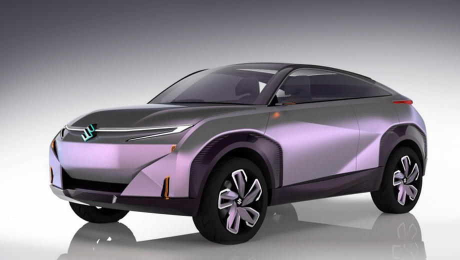 Suzuki maruti,Suzuki maruti  futuro-e. Салон виднеется только на рендерах, так как окна выставочного образца затонированы наглухо. Ощущение полноразмерного макета без силовой установки не покидает ни на секунду.